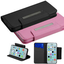 For Apple iPhone 5C Premium Leather Wallet Case Pouch Flip Cover Accessory