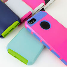 For Apple iPhone 5S 5 PC Shockproof Dirt Dust Proof Hybrid Hard Matte Case Cover
