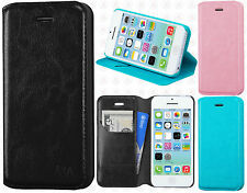 For Apple iPhone 5C Premium Wallet Case Pouch Flap STAND Cover Accessory