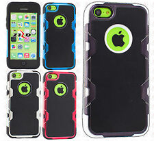iPhone 5C Cosmic HYBRID HARD Leather Back Rubber Case Cover + Screen Protector