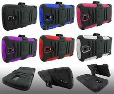FOR SAMSUNG GALAXY S4 ACTIVE I537 RUGGED ARMOR HYBRID PHONE CASE W/ HOLSTER