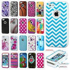 For Apple iPhone 5 5S IMPACT Verge HYBRID Case Skin Phone Cover + Screen Guard