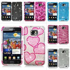 For Samsung Galaxy S2 S II i9100 i9100G Bling Diamond Hard Case Cover Accessory