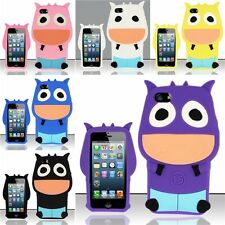 For iPhone 5 3D Cow Design Silicone Case Cover