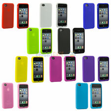 WHOLESALE! NEW COLORFUL SOFT SILICONE RUBBER GEL Case Cover Skin For iPhone 4 4S