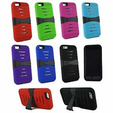"For Apple iPhone 6 4.7"" Heavy Duty Tough Hard Armor Hybrid Stand Case Cover"