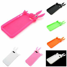 For Apple iPhone 5S , 5 Rabbit Design Soft Rubber Skin Silicone Cover
