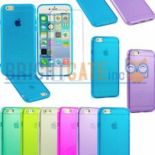 Clear Hard TPU Jelly Gel Case Cover For iPhone 6 , 5 5S , 5C , 4 4S +F