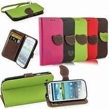 Leaf Wallet Card Clip Leather Flip Magnetic Case or Samsung Galaxy S3 SIII i9300