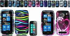 Screen Protector+Snap-on Hard Case Cover For Nokia Sabre / Lumia 710 Phone