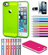 Soft Silicone Translucent Rubber Bumper Matte Gel Case Cover for iPhone 5 5S