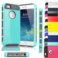Hybrid Protective Rugged Shockproof Rubber Hard Case Cover For iPhone