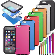"For iPhone 6 4.7"" 6 Plus 5.5"" TPU Wrap Up Case Cover Built In Screen Protector"