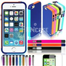 SNAP ON Rubber Matte Hard TPU SLIM COVER PROTECTOR CASE FOR APPLE IPHONE 5 5S