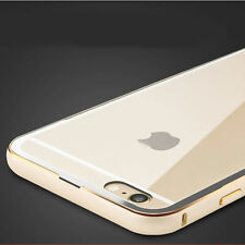 UltraThin Aluminum Metal Bumper Clear Back Case Cover SKin for iPhone6