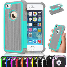 For Apple iPhone 5C Shockproof Heavy Duty Hybrid Rubber Hard Case Cove