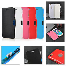 Slim PU Leather Magnetic Clasp Flip Hard Cover Case For iPhone 6 , PLU