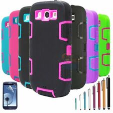 Shockproof Dirt Proof Hybrid Rubber Hard Case Cover For Samsung Galaxy S3 i9300