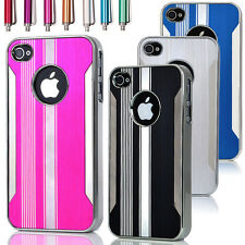 Luxury Brushed Aluminum Chrome Hard Case Cover For iPhone 4G 4S w, Scr