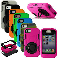 Hybrid Rugged Impact Rubber Matte Hard Cover Case Built in Film For iP