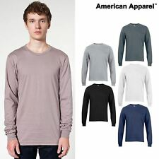 American Apparel long sleeve T Shirt fine Jersey Top tee men women