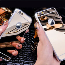 Luxury Metal Aluminum Ultra-thin Mirror Soft Case Cover for Apple iPhone Models