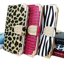 For Samsung Galaxy S5 SV Crocodile Bling PU Leather Wallet Flip Pouch Case Cover