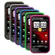 Transp Matte TPU Rubber Gel Case Cover for HTC Rezound