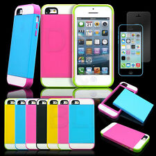 For Apple iPhone 5C C Hybrid Shockproof Hard Rugged Heavy Duty Cover C