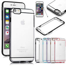 "For Apple iPhone 6 Plus 5.5"" Slim Transparent Crystal Clear Hard TPU C"