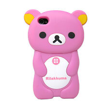 New 3D Cute Bear Rilakkuma Hard Skin Case Cover for iPhone 4 4s