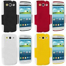 Hybrid Mesh Hard,Soft 2-Piece Skin Case Cover for Samsung Galaxy S3 S