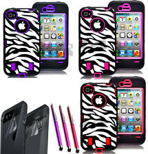 For Apple iPhone 5 5S Hybrid Rubber Rugged Combo Matte Hard Case Cover
