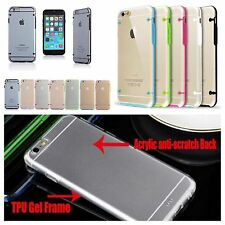 TPU Rubber Gel Ultra Thin Transparent Clear Case Cover 11 Colors Apple
