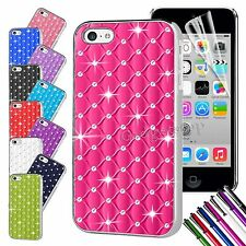 Luxury Diamond Bling Chrome Hard Rhinestone Back Case Cover For Apple