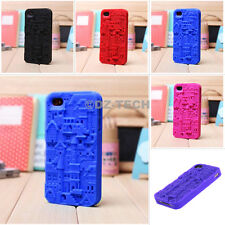For Apple iPhone 4 4G 4S 3D Color Castle Silicone Soft Skin Case Cover Accessory