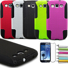 Dual Layer Hybrid Hard Case Cover for Samsung Galaxy S3 III  i9300 (8 Colors)