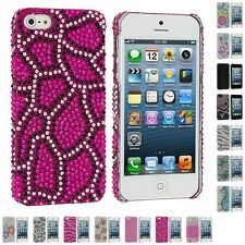 Color Diamond Rhinestone Bling Cute Ultra Thin Rear Case Cover for iPh