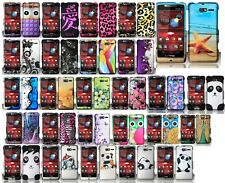 For Verizon Motorola Droid RAZR M XT907 Rubberized HARD Case Snap On Phone Cover