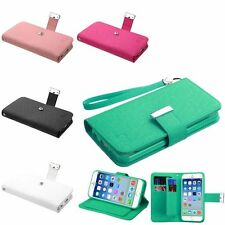 "For iPhone 6 4.7"" Deluxe Wallet Credit Card Stand Flip Leather Cover Case Pouch"