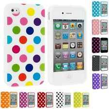 Polka Dot TPU Color Rubber Skin Case Cover Accessory for Apple iPhone