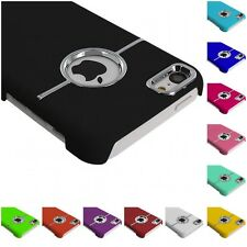 For iPhone 5C Deluxe Color Hard Rubberized Chrome Ultra Thin Rear Case