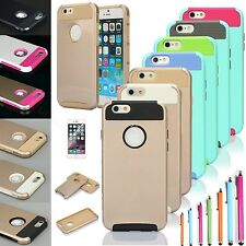 Shockproof Hybrid Rubber Rugged Matte Hard Cover Case For Apple iPhone
