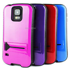 For Samsung Galaxy S5 SV i9600 Heavy Duty Shockproof Hybrid Case Cover