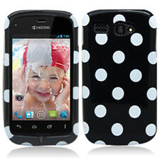 For Boost Mobile Kyocera Hydro C5170 Colorful Polka Dots Hard Case Cov