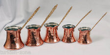 Handmade Turkish Greek Copper Coffee Pot, Cezve, Jezve, 1 piece XXS,XS,S,M,L