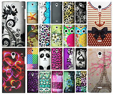 Sharp Aquos Crystal Rubberized HARD Protector Case Phone Cover +Screen Protector