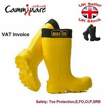 Camminare Full Safety Lightweight Wellies Wellingtons EVA Boots Master Yellow