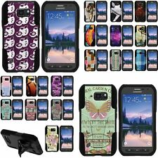 Case for Samsung Galaxy S6 Active Shell Silicone Stand Image Designs Cute Cool