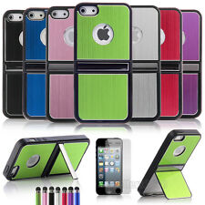 Aluminum Shockproof Dirt Dust Proof Stand Hard Cover Case For Apple iPhone 5 5S